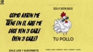 Sech Ft Justin Quiles - Tu Pollo Video Lyric - Letra Official