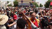 Tunisia: Anti-govt protesters take to Tunis street on Republic Day
