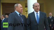 Russia: Putin and Netanyahu shake hands after meeting in Moscow