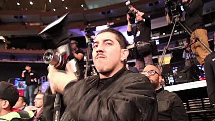 USA: Jarrell Miller shoves Anthony Joshua at title fight presser
