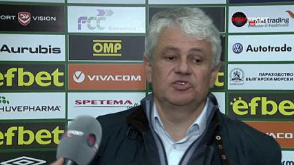 Стойчо Стоев след победата с 6:0 на Лудогорец над Септември