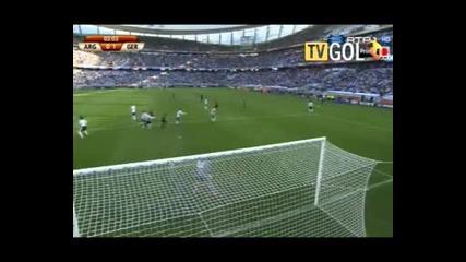 Аржентина - Германия 0:1 първо полувреме