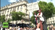 France: Paris protests US GMO giant in global 'March against Monsanto'