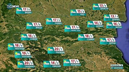 Прогноза за времето на NOVA NEWS (27.02.2021 - 13:00)