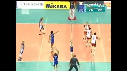 Poland vs. France - Set 1! (turkey Evc 2009 Final)