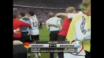 Германия - Аржентина 1/4 финал на Световното Първенство 2006 дузпи