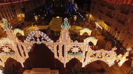 Russia: Drone footage captures Moscow's dazzling night-time Christmas lights