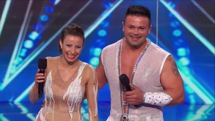 Българско семейство в Америка търси талант | 2014 изпълнява смъртоносен номер и печели публиката
