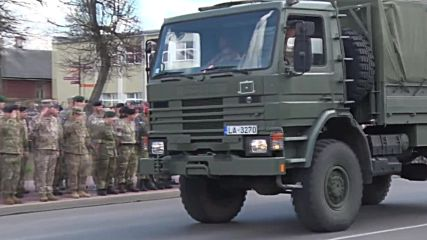 Latvia: Pres. Vejonis joins military parade marking independence from USSR