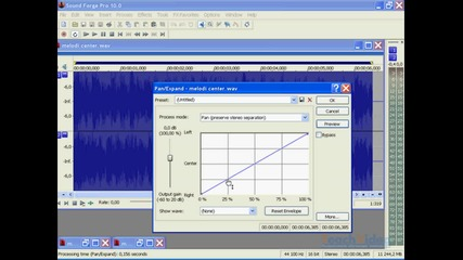 Урок 21 - Sound Forge Pro 10 - Панорамиране