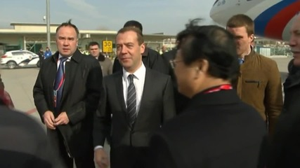 China: Medvedev touches down in Shanghai for SCO meeting