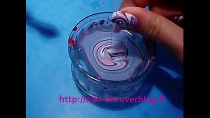 water marble swirl spirale nail art tuto