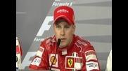 Прес - конференция с Кими Райконен след първата му победа за Ферари 2007