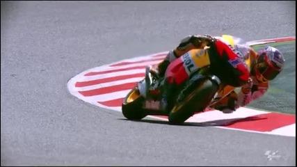 Мотоциклетист в завой , почти на коляно ! Забавен каданс