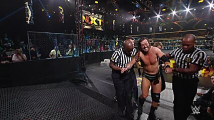 Adam Cole helped from the ring following brutal attack by Kyle O'Reilly: WWE NXT Exclusive, July 27, 2021