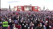 Turkey: PM Davutoglu addresses huge AKP rally in Istanbul