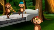 Five Little Monkeys Jumping On The Bed Part 1 In Hd from Littlebabybum