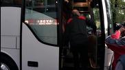 ЦСКА тръгна за Варна с бял автобус