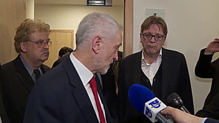 Belgium: Labour leader Corbyn 'determined to get no deal off the table'