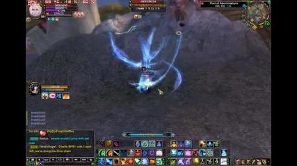 Perfect world international - psychic lvl 89 killing a lvl 110 Mob