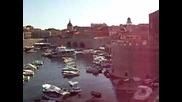 Панорамна гледка на пристанището на Дубровник