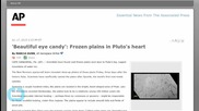Frozen Plains in Pluto's Heart...