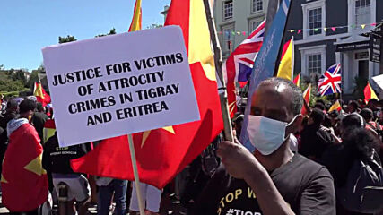 UK: Protesters rally in Falmouth decrying Tigray 'genocide'