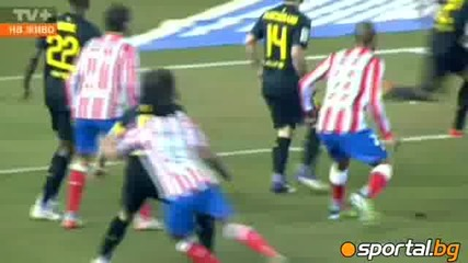 Атлетико Мадрид - Барселона 1 - 2 26.02.2012