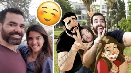Красавица и батка - как една двойка се превърна в сензация в Instagram