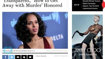 GLAAD Media Awards 2015: Kerry Washington Honored