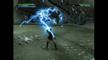 Star Wars The Force Unleashed как да победим Bull Rancor