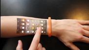 Алтернативен смартфон - Гривна таблет върху кожата