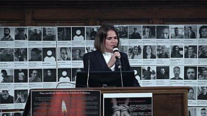 UK: Tikhanovskaya says if 'one athlete imprisoned, entire sports community will struggle' following meeting with PM