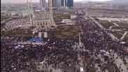 Russia: Drone footage captures HUGE pro-Kadyrov rally in Grozny