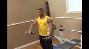Бодибилдинг упражнения - Повдигане напред за предно рамо с дъмбели Vbox7
