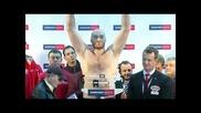 Кантарът преди зрелищната битка между Кличко и Фюри