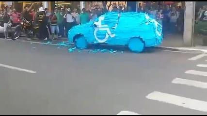 Защо не се паркира на място за инвалиди ...