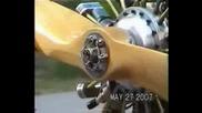 9 цилидров модел на радиален двигател