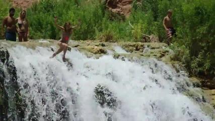 Луди скачания и трикове от скали в Havasupai