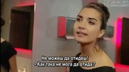 Kara Para Ask - 13 епизод - Елиф, Левент и Йомер на кино Bg sub