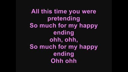 Avril Lavigne - My Happy Ending {lyrics}