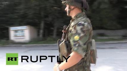 Български военни следят за сигурността по границата ни с Македония