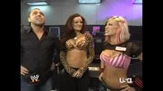 Маria, Ashley And Mickie Backstage