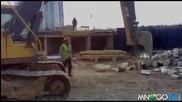Как се цепят дърва по руски