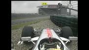 Формула1 - Китай - Отпадането На Хамилтън