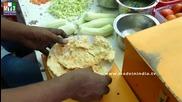 Бърза Храна на улицата .. Appetizer Recipe - Masala Papad - Rare Street Food - India