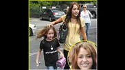 Miley Cyrus and her sister - Noah Cyrus and Vanessa Hudgens and her sister - Stella Hudgens