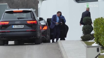 Кирил Домусчиев пристигна за срещата на Изпълкома на БФС