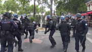 France: Tear gas flies as Bastille Day demo turns violent in Paris