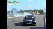 Mercedes 300sel Wald пали гумите